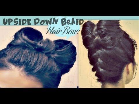 ★ Hair Bow Tutorial Upside Down Braid Bun | French Style Updo Hairstyle For Long Hair Lady Gaga