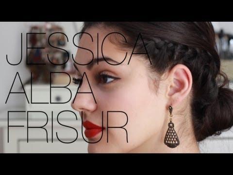 Elegante Frisur Mit Flechtung – Star Jessica Alba