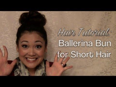 Hair Tutorial: Ballerina Bun For Short Hair