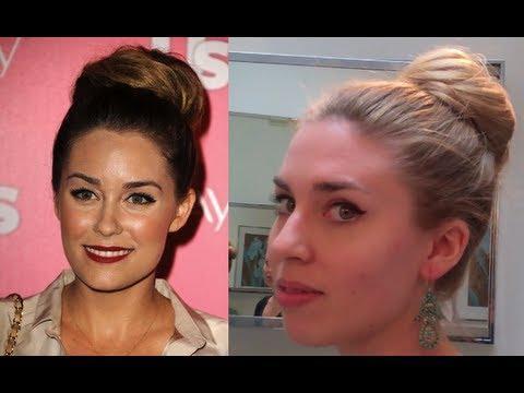 Lauren Conrad High Bun Hair Tutorial- Easy Hairstyles For Long Hair