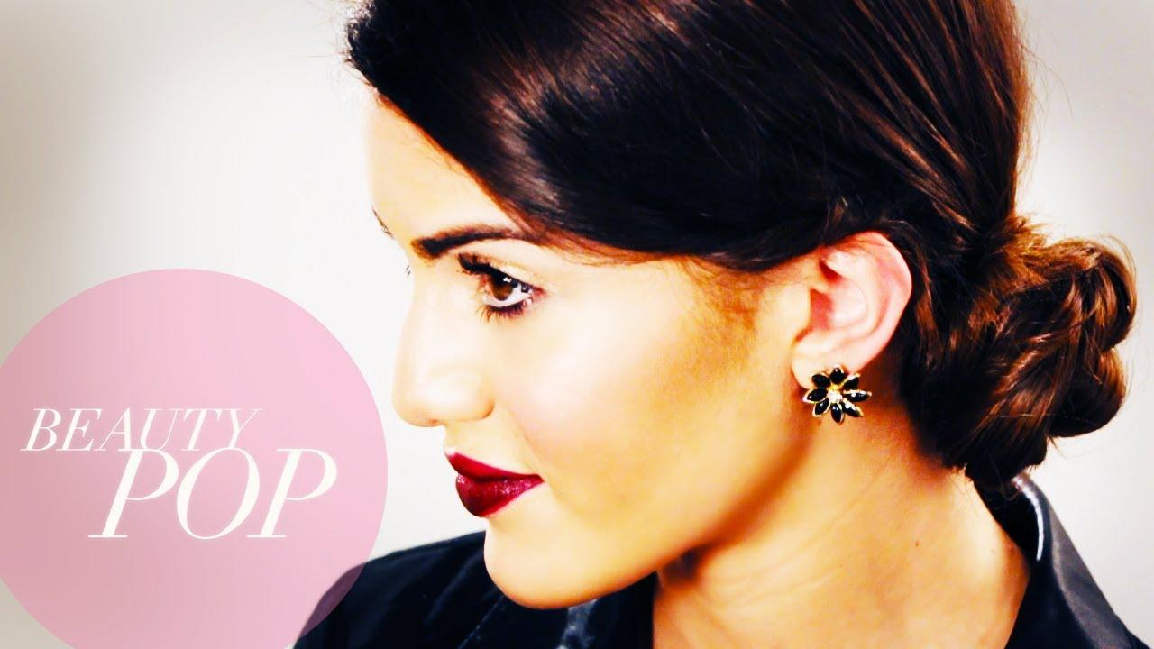 Big Giveaway! Low Side Bun Hair Tutorial With Camila Coelho: Beauty Pop