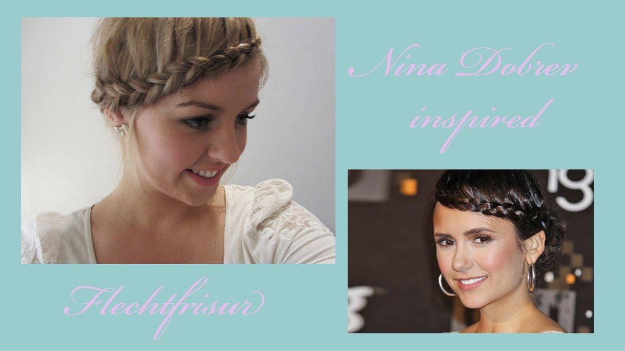 Nina Dobrev  Inspired Flechtfrisur Frisuren Freitag