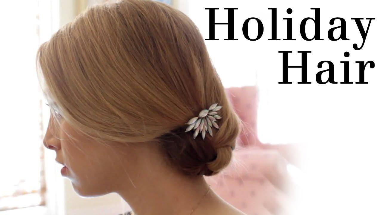 Simple Holiday Hair Tutorial