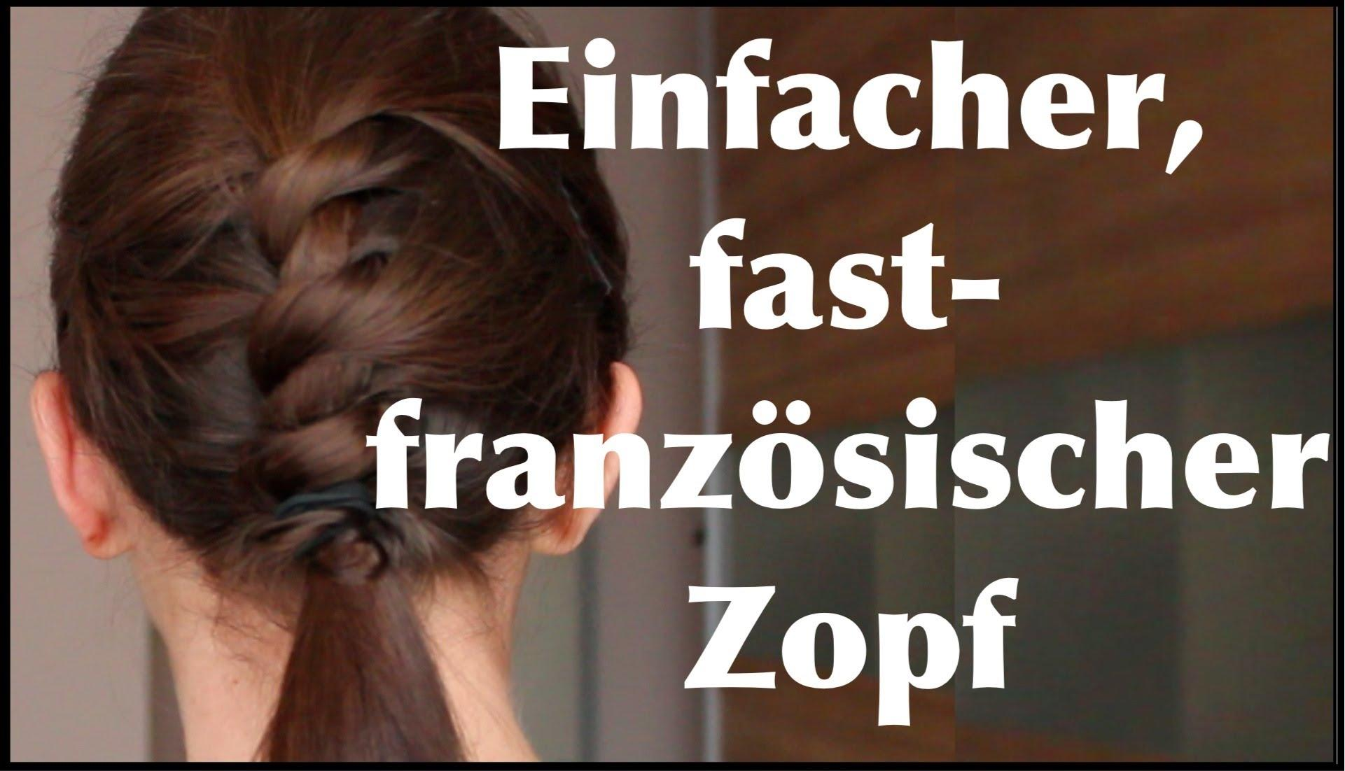 Origineller Fast-französischer Zopf Für Die Schule, Uni Oder Arbeit