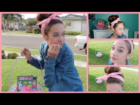 Simple Easter Hair & Makeup Tutorial!