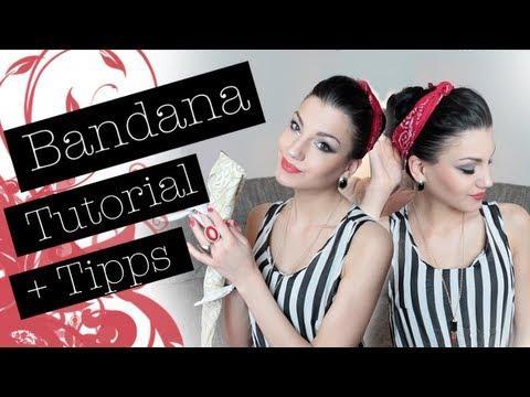 Bandana Binden Tutorial – Tipps – Einfache Frisur Im 50's Look