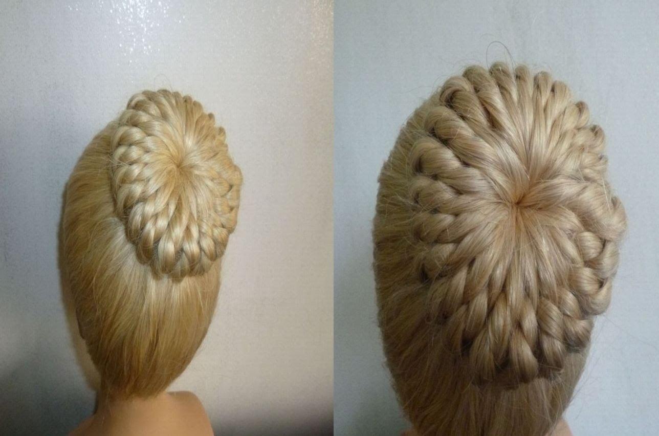 Einfache Frisurflechtfrisurzopffrisur Mit Duttkissenduttdonut Hair Bun Updo Hairpeinados