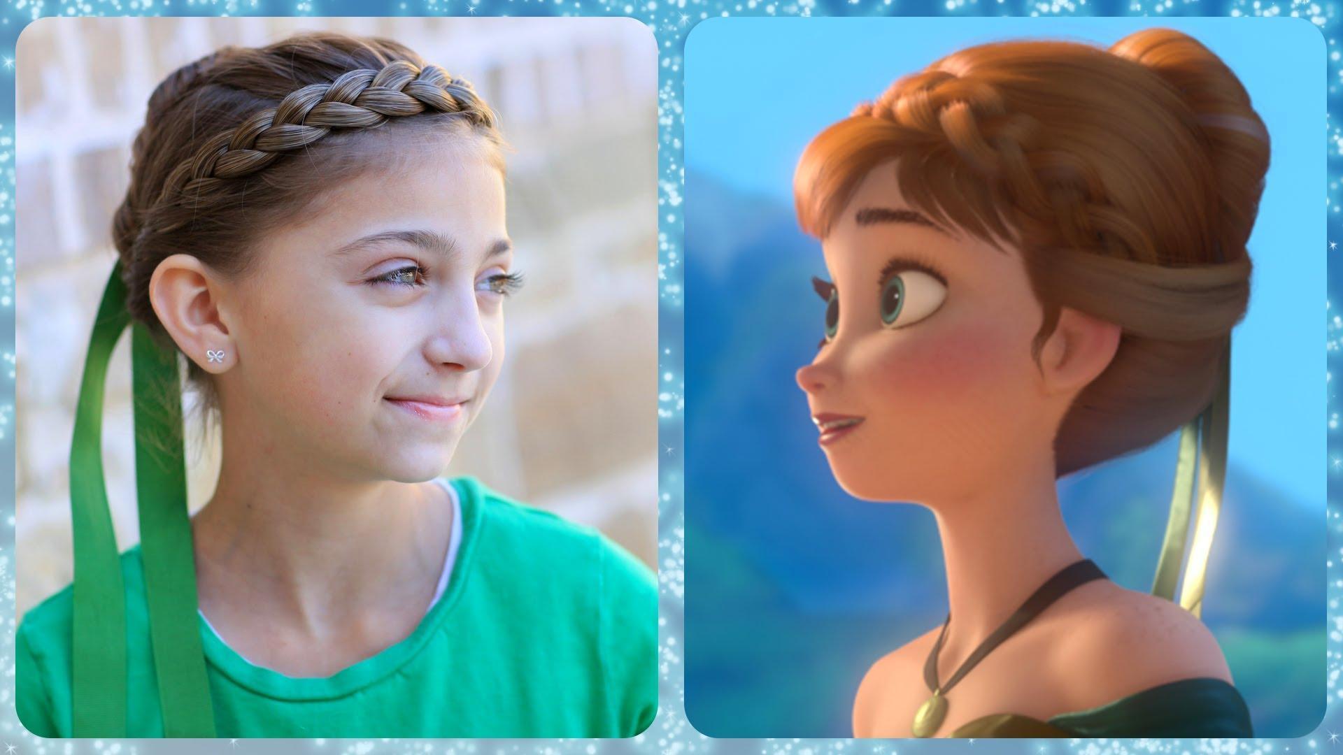Frozen Inspired Anna's Coronation Hairstyle Tutorial – A Cutegirlshairstyles Disney Exclusive