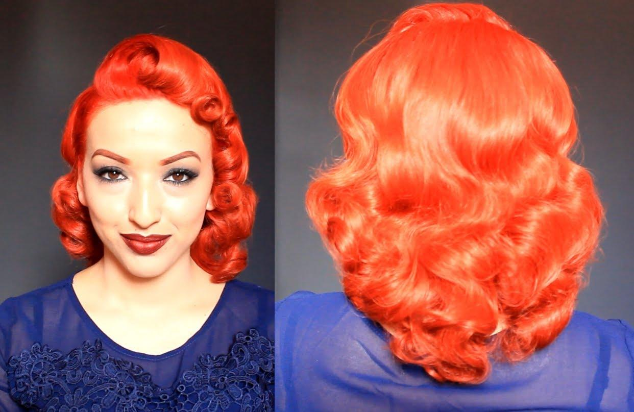 Retro Vintage Pin Curls Using A Curling Iron