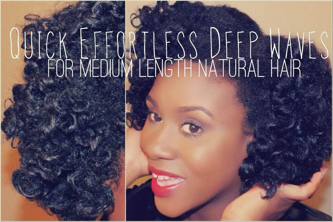 Quick Effortless Deep Waves Tutorial For Medium Length Natural Hair