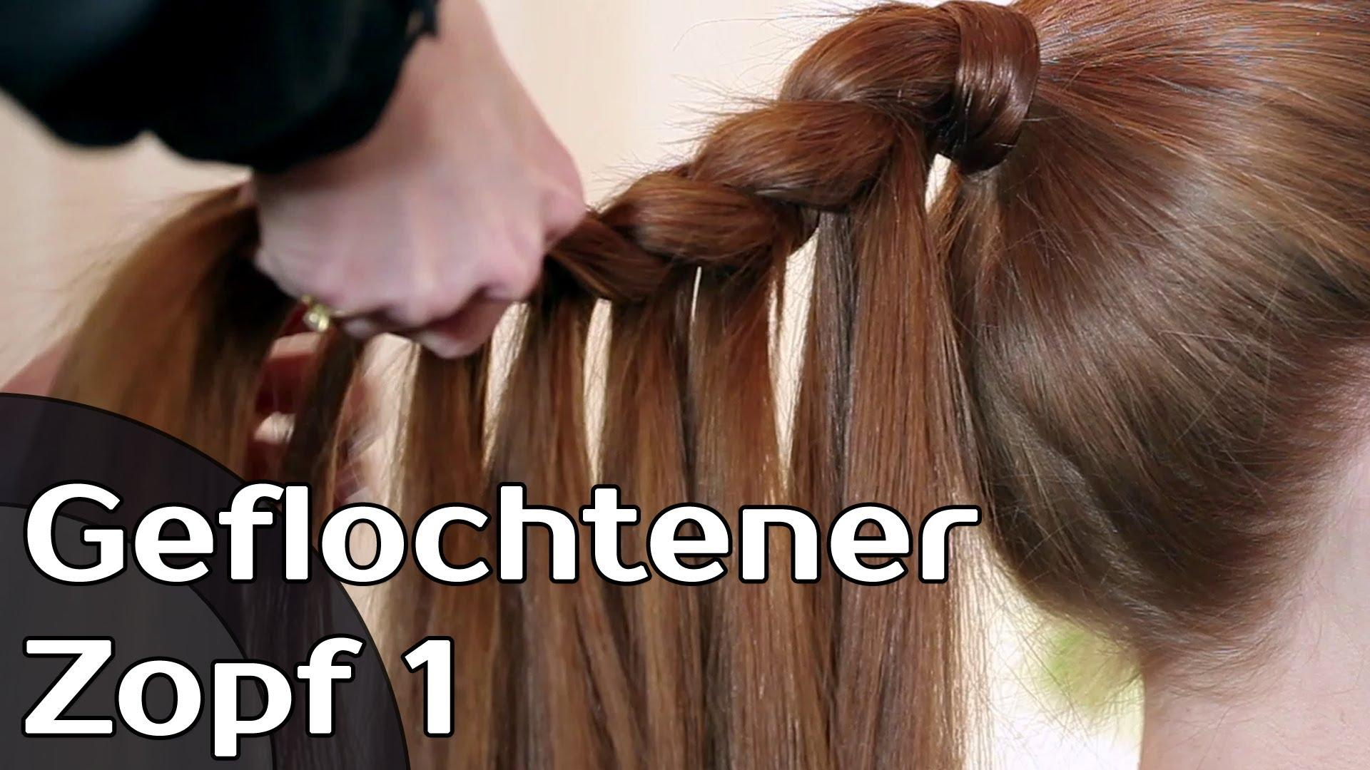 Geflochtener Zopf 1 – Haare Flechten Stylen Tutorial – Fashionradar