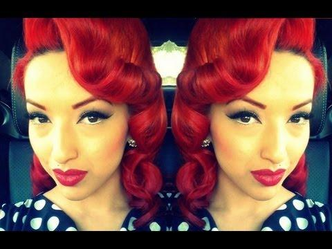 Retro Vintage Pin Curls Using A Clipless Iron Or Curling Iron Hd