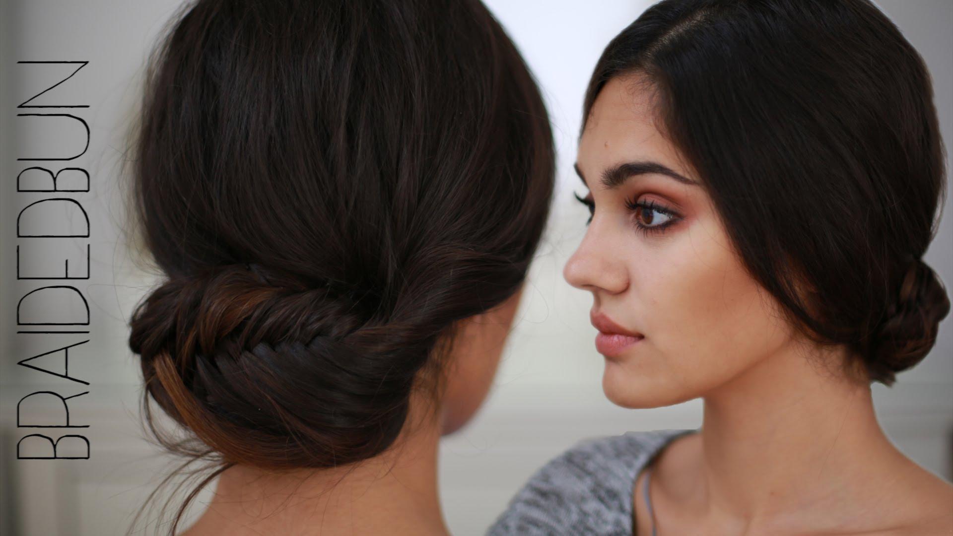 SchÖne Frisur Für Mittellangeslanges Haar – Fischgrätenzopf, Braided Bun, Tutorial