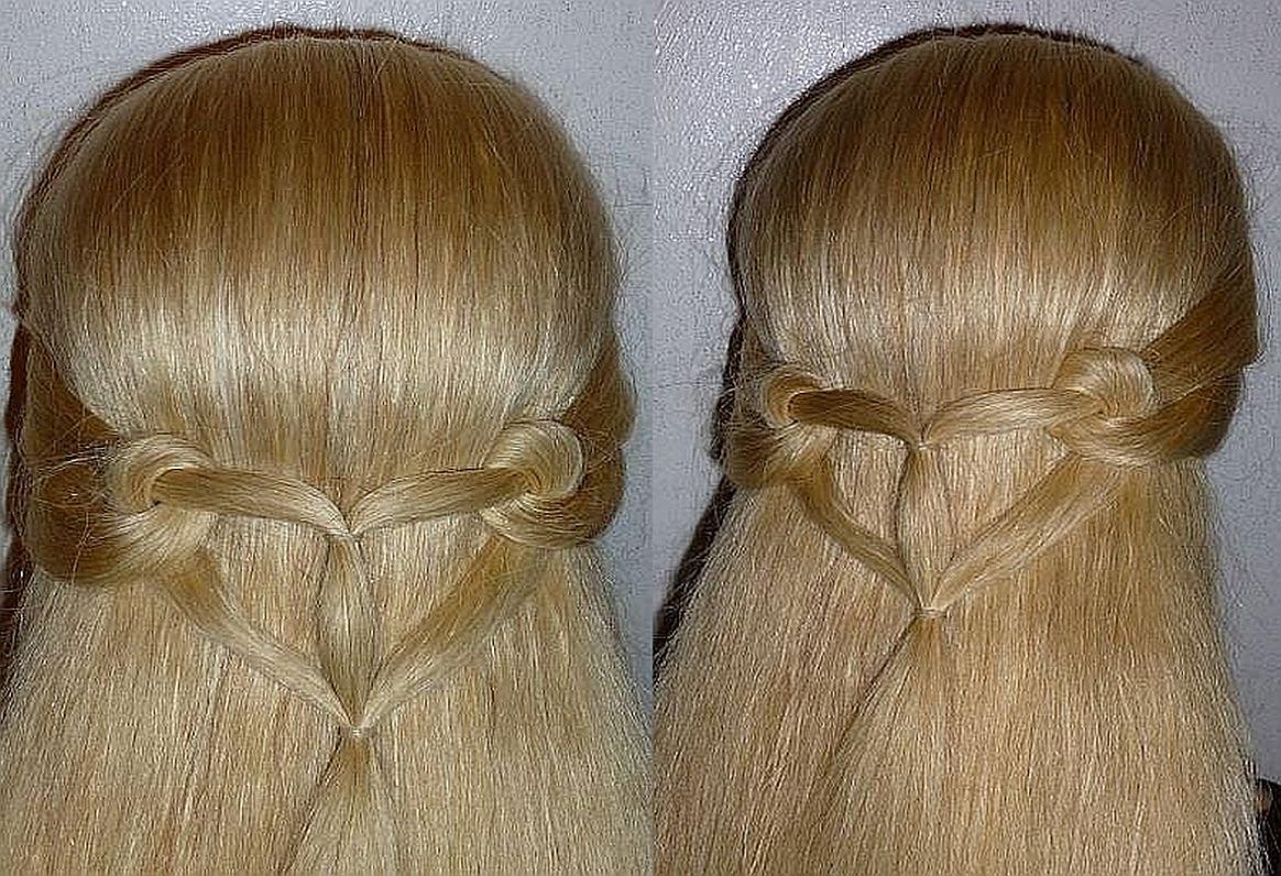 Schnelle Herz- Frisur Zum Selbermachen Für Offene Haare Peinados