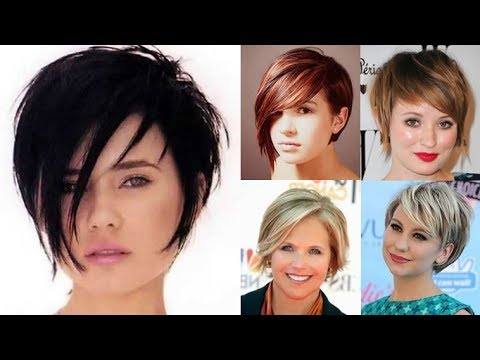Short Hairstyles For Round Face And Thin Hair 2018
