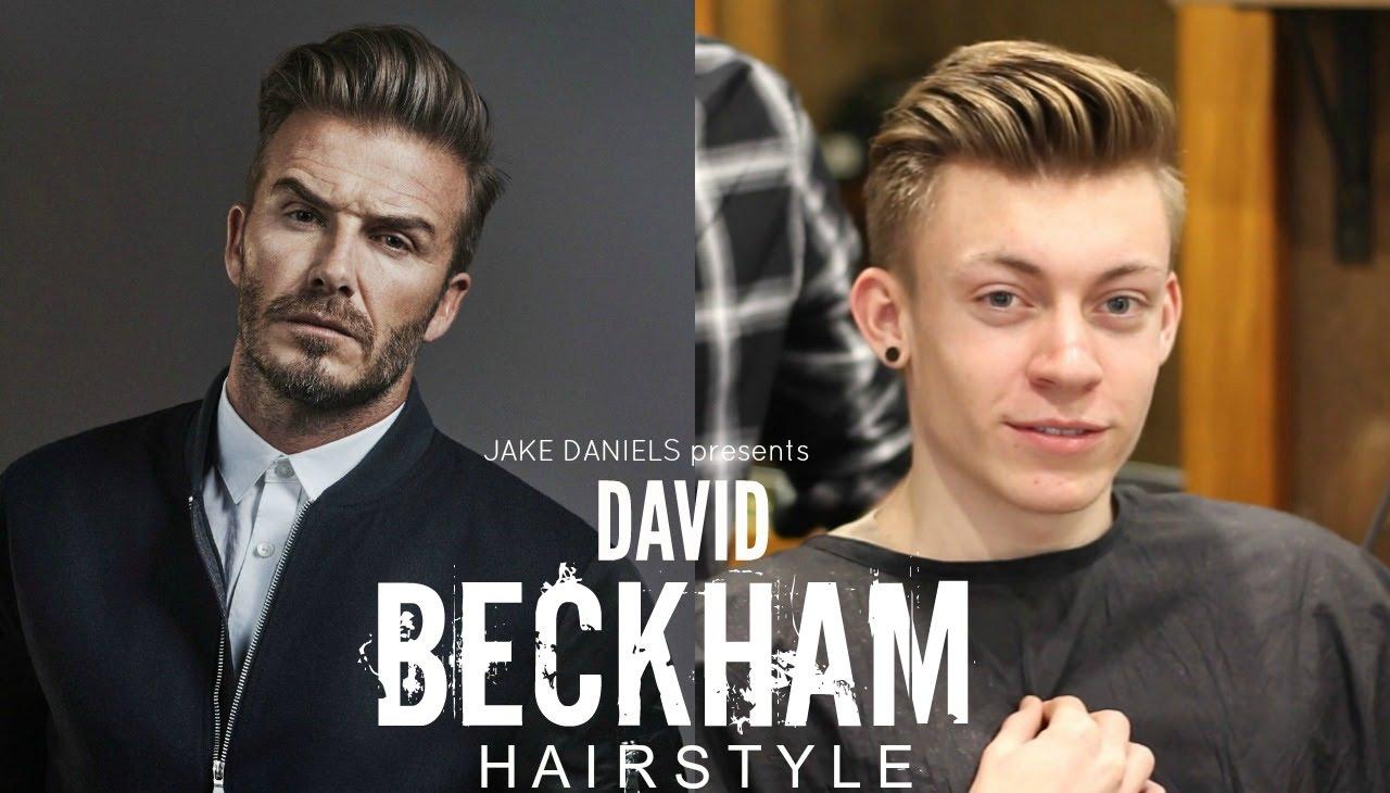 DAVID BECKHAM HAIRSTYLE TUTORIAL – MENS HAIR 2018   JAKE DANIELS